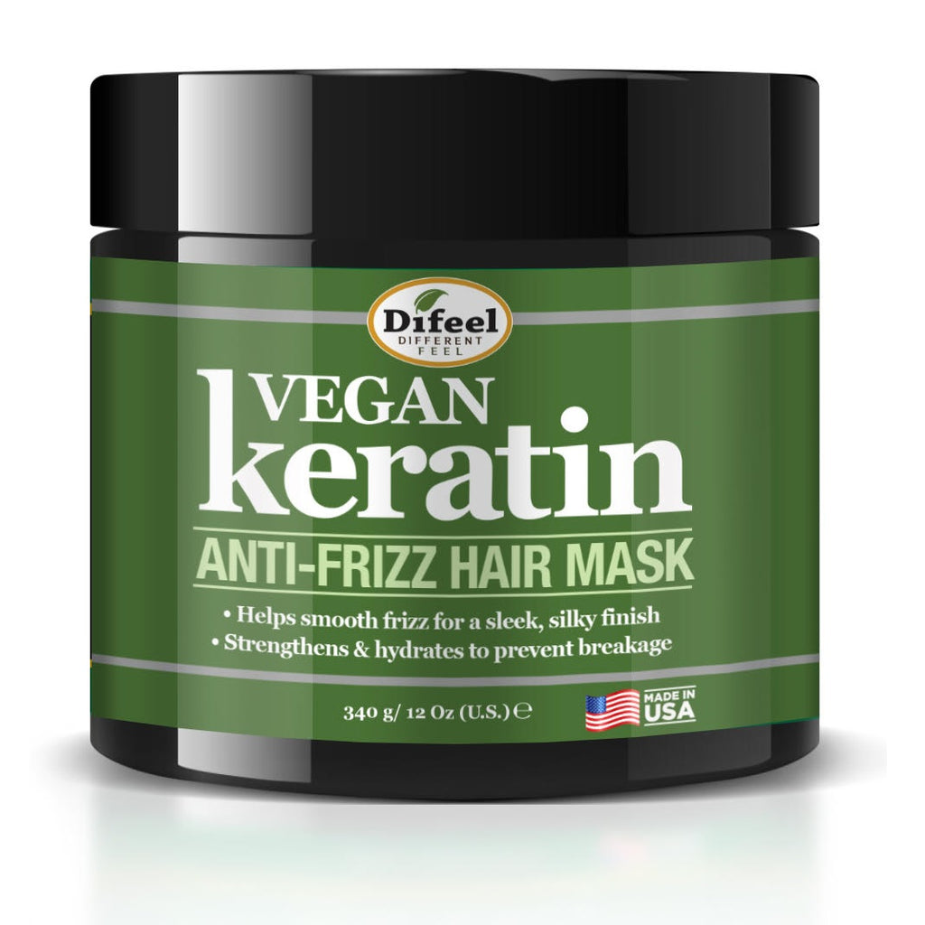 Difeel Vegan Keratin Anti Frizz Hair Mask 12 oz.
