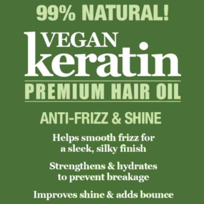 Difeel Vegan Keratin Premium Hair Oil - Anti Frizz & Shine 2.5 oz.