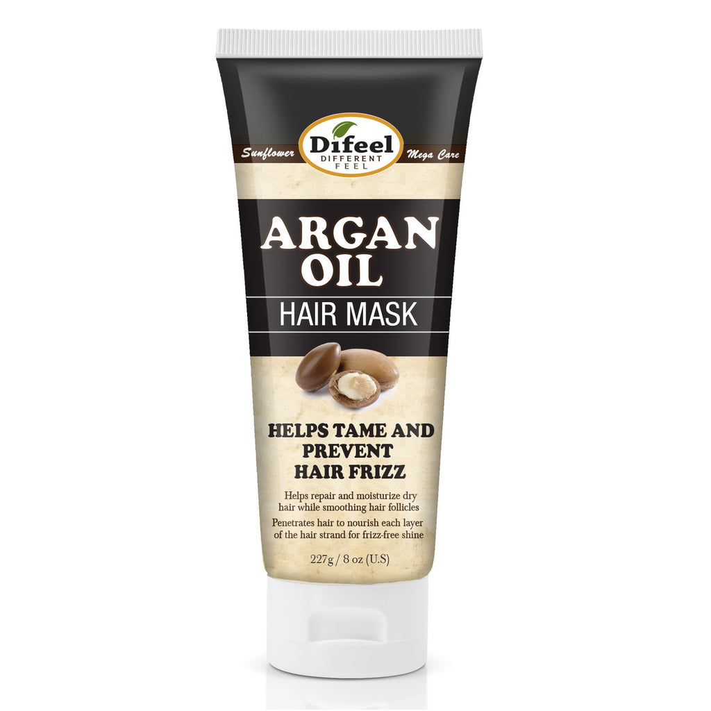 Difeel Argan Oil Hair Mask for Dry Hair 8 oz. (Pack of 2)