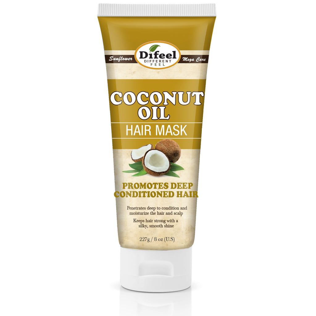 Difeel Coconut Oil Hair Mask 8 oz.