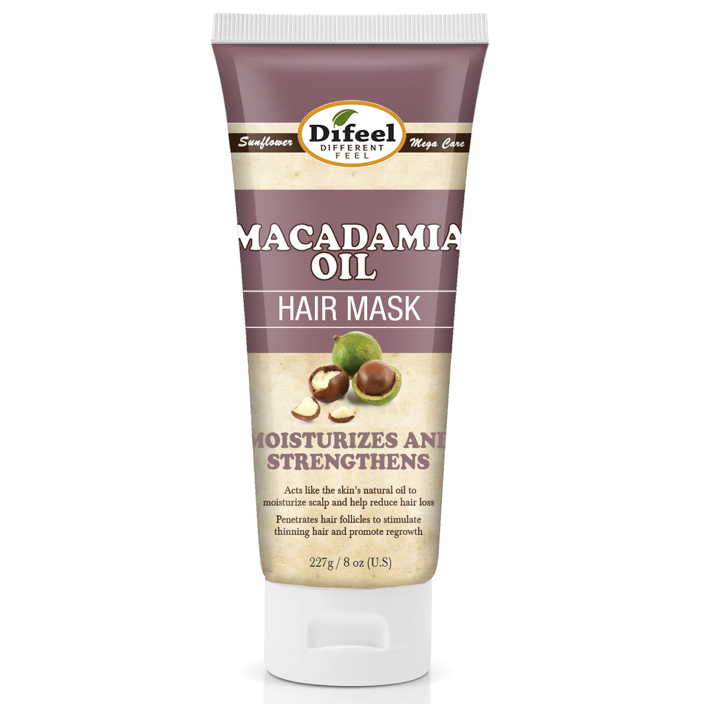 Difeel Macadamia Oil Hair Mask 8 oz.