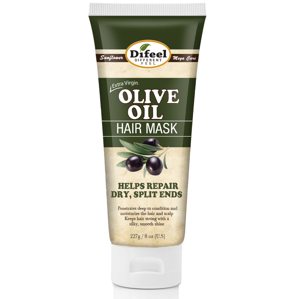 Difeel Extra Virgin Olive Oil Hair Mask 8 oz.