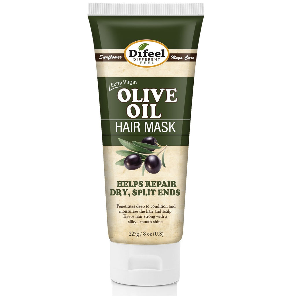 Difeel Extra Virgin Olive Oil Hair Mask 8 oz. (Pack of 2)