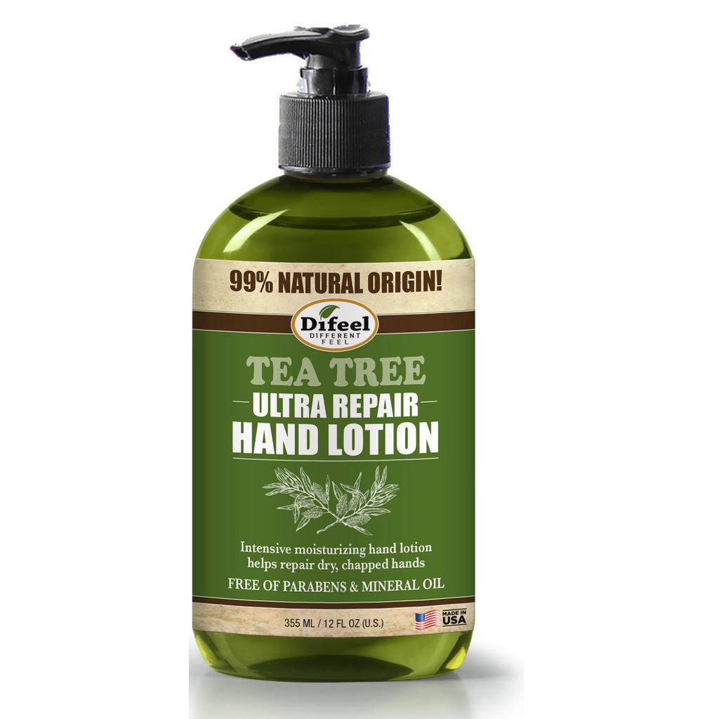 Difeel Tea Tree Ultra Repair Hand Lotion 12 oz. (PACK OF 2)
