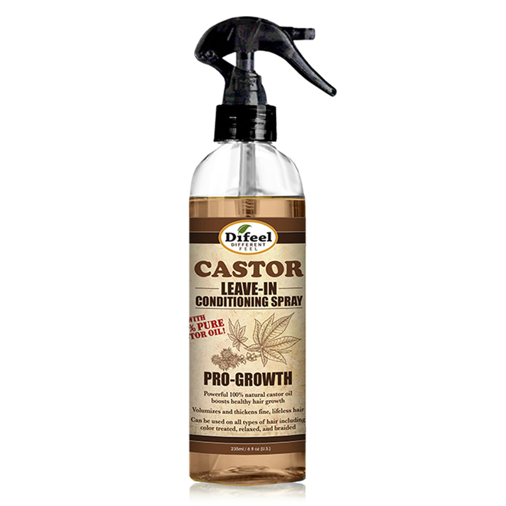 Difeel Pro Growth Leave in Conditioning Spray with 100% Natural Castor Oil 6 oz.