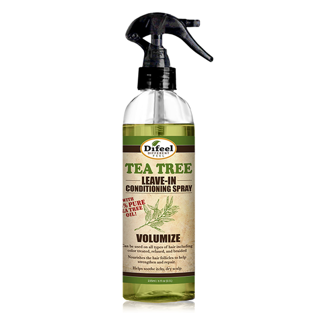 Difeel Volumize Leave in Conditioning Spray with 100% Pure Tea Tree Oil 6 oz.