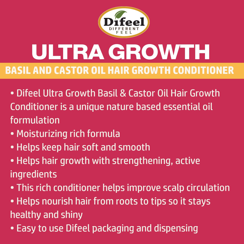 Difeel Ultra Growth Basil & Castor Oil Pro Growth Conditioner 33.8 oz.