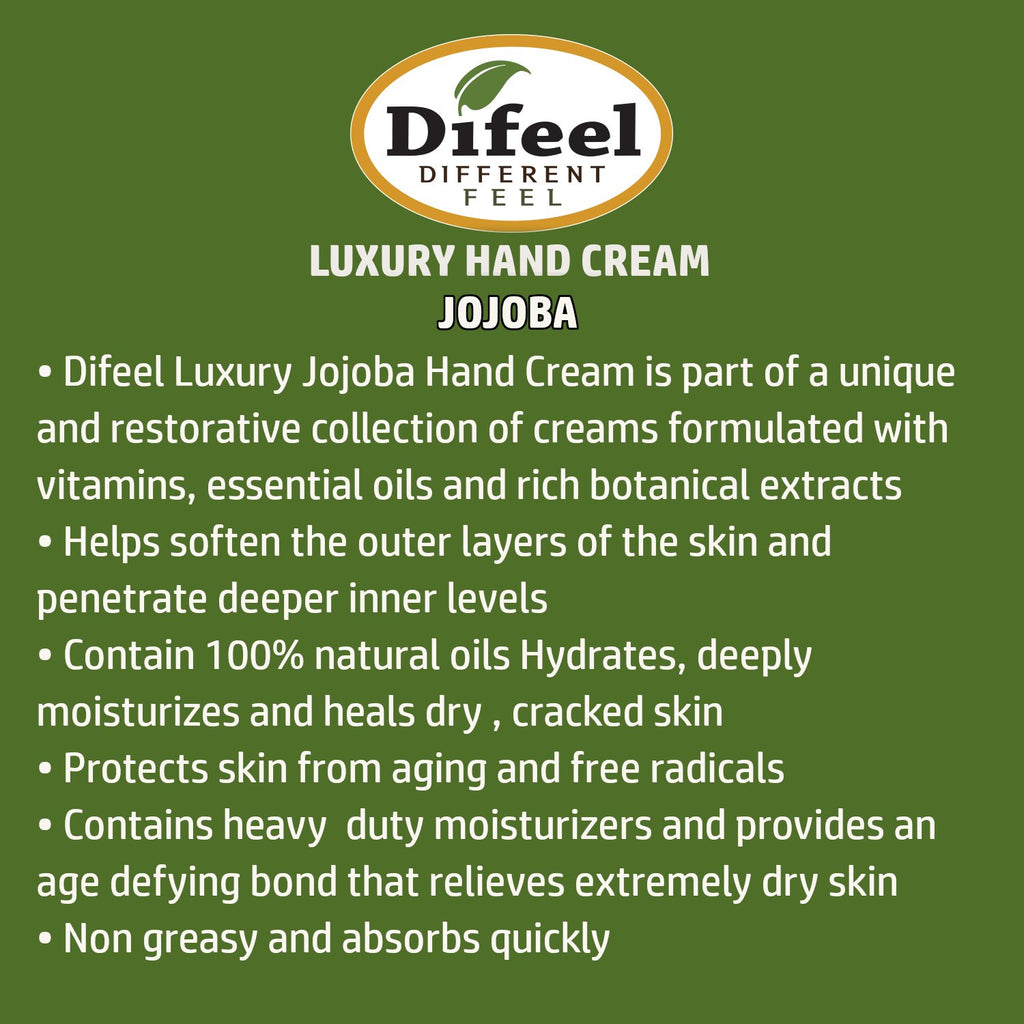 Difeel Luxury Moisturizing Hand Cream - Jojoba 1.4 oz. (PACK OF 2)