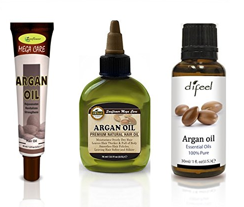 Difeel Hair and Essential Oil-Argan Oil 3 Piece Set