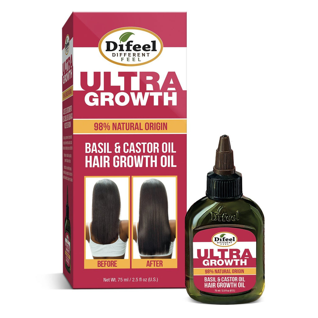 Difeel Ultra Growth Basil & Castor Hair Growth Oil 2.5 fl. oz. (PACK OF 2)