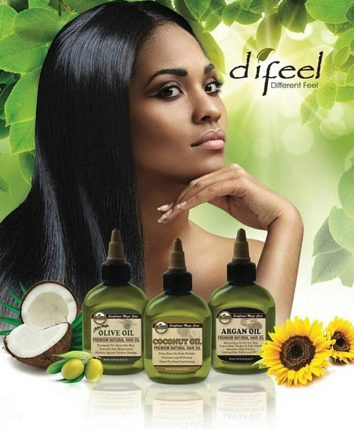 Difeel Vegan Keratin Premium Hair Oil - Anti Frizz & Shine 2.5 oz. (PACK OF 2)