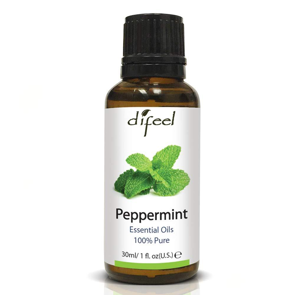 Difeel Essential Oil 100% Pure Peppermint Oil 1 oz.  (Pack of 2)