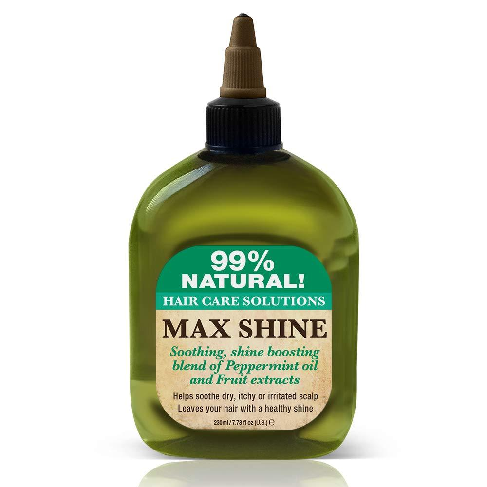 Difeel 99% Natural Hair Care Solutions Max Shine Hair Oil 7.78 oz. (PACK OF 2)
