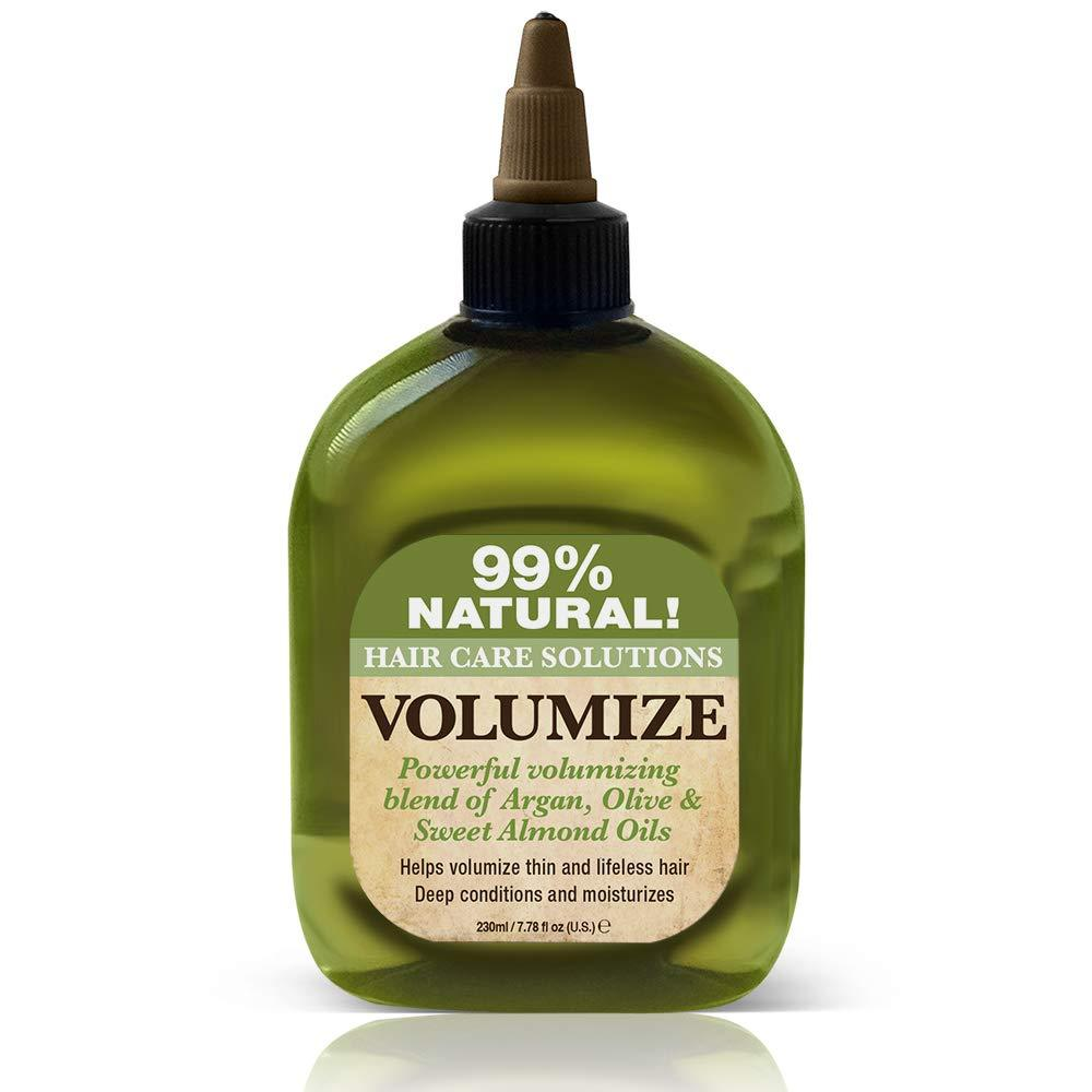 Difeel 99% Natural Hair Care Solutions Volumize Hair Oil 7.78 oz. (PACK OF 2)