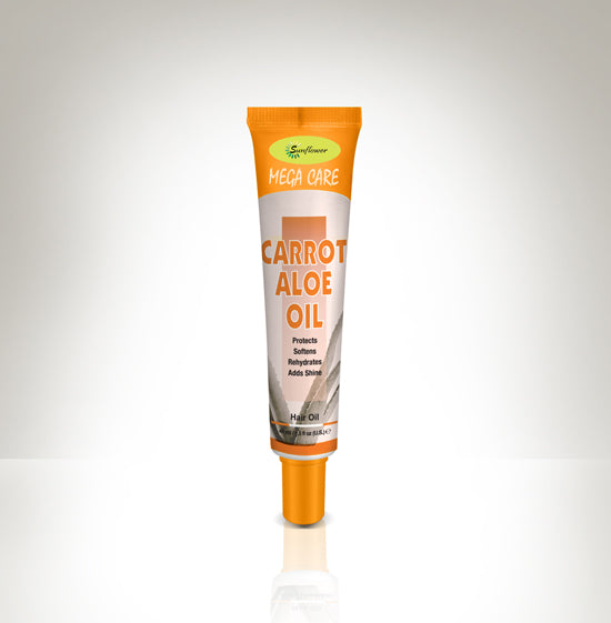 Difeel Mega Care Hair Oil - Aloe & Carrot Oil 1.4 oz.