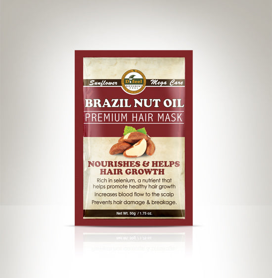 Difeel Premium Deep Conditioning Hair Mask - Brazil Nut Oil 1.75 oz.
