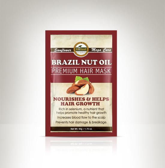 Difeel Premium Deep Conditioning Hair Mask - Brazil Nut Oil 1.75 oz. (Pack of 2)