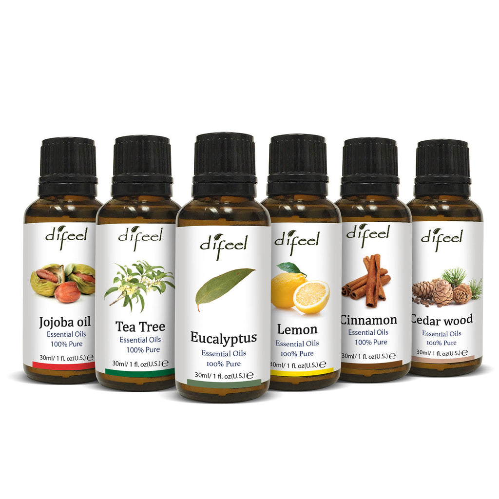 Difeel Deluxe 6 Piece Essential Oil Kit