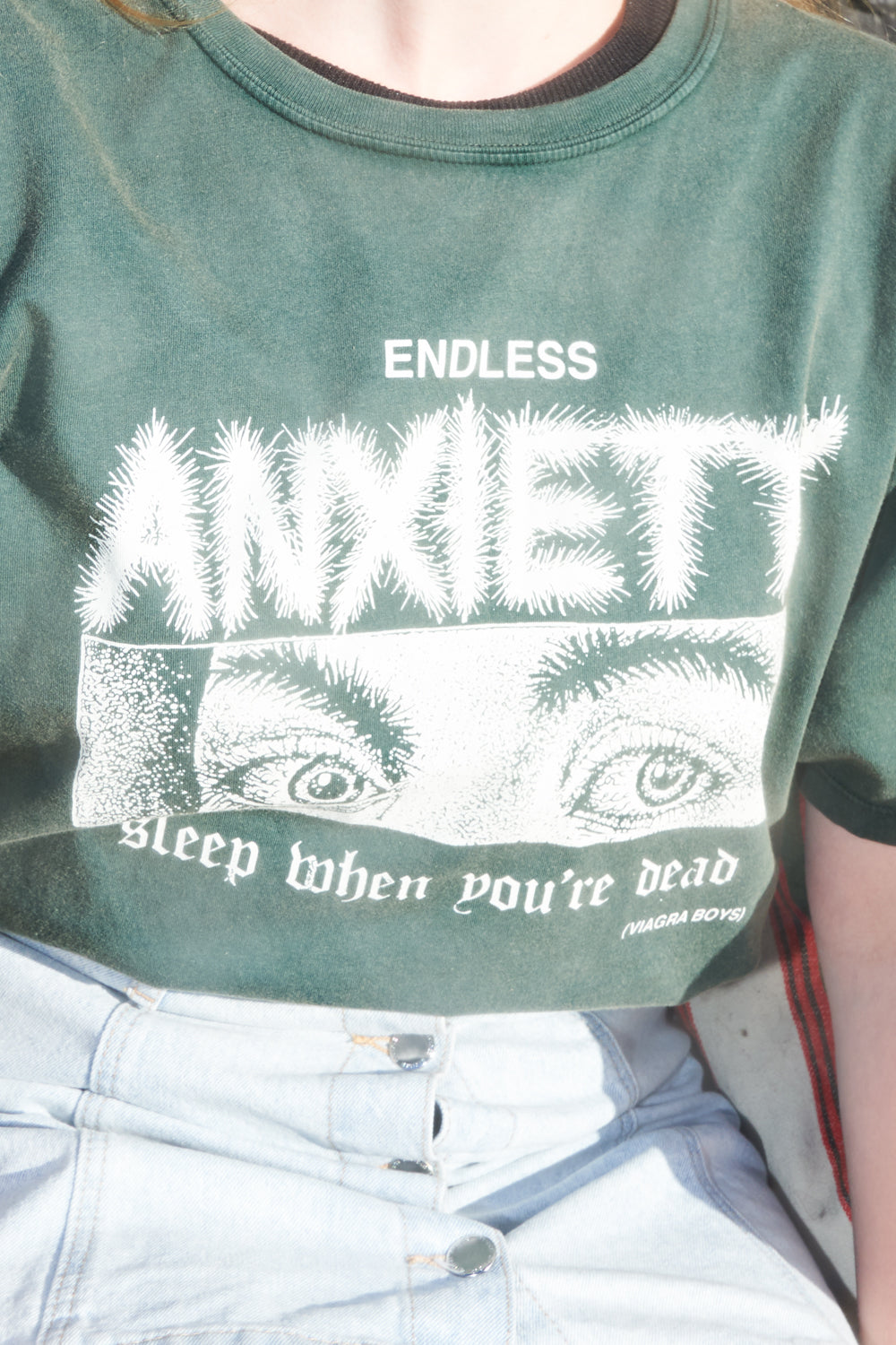 ENDLESS ANXIETY T-SHIRT / WASHED GREEN