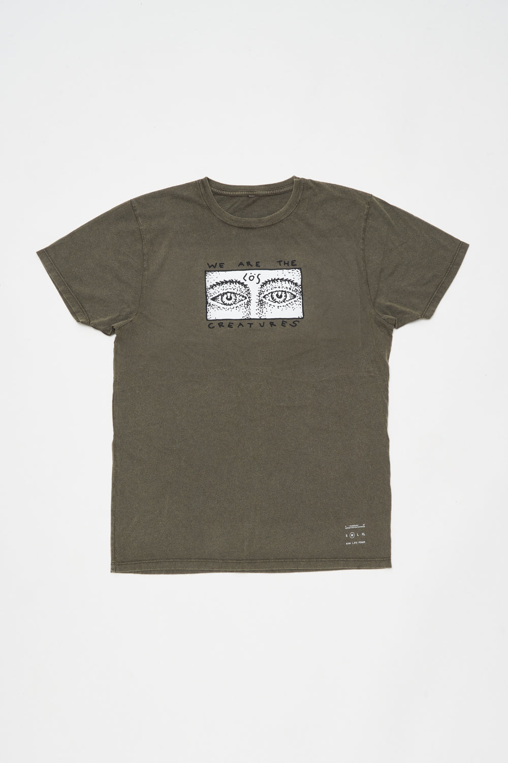 CREATURES T-SHIRT / STONE WASH GREY