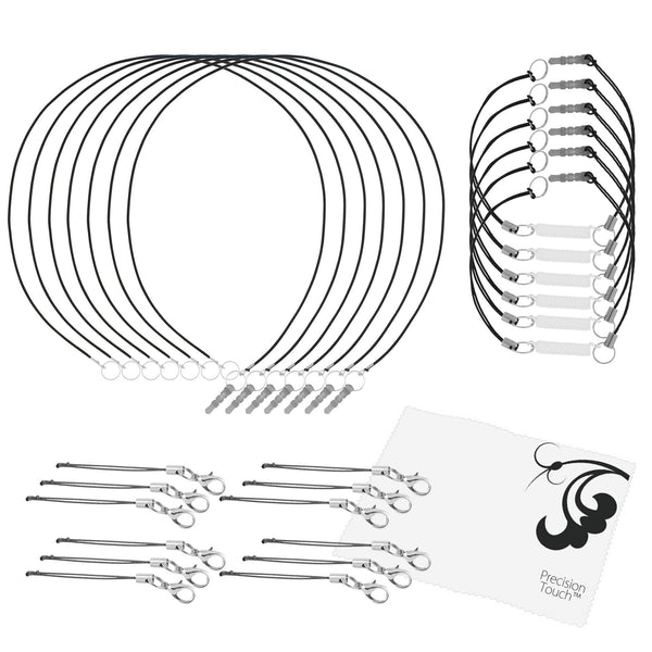 24 Pack - Coiled and Elastic Tether Combo plus Extenders
