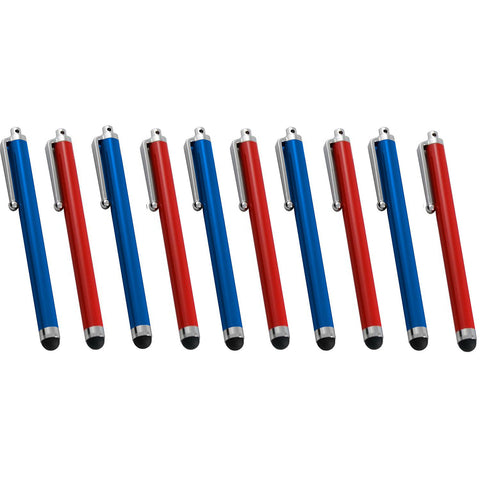 10 Pack Soft Touch Bright Stylus