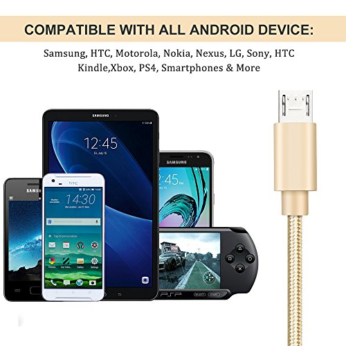 Micro USB Cable Android Charger - Gold