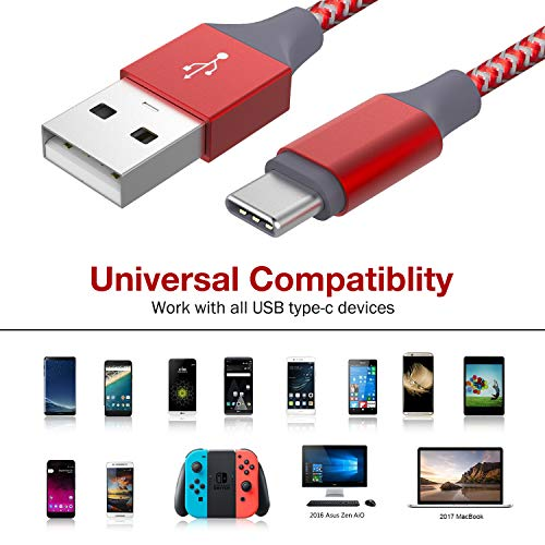 USB C Charger Cable - Red