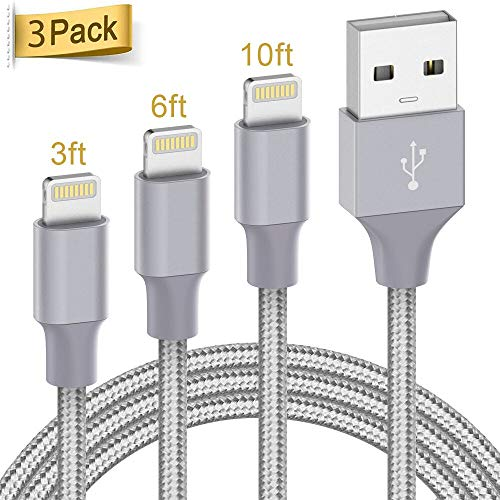 3Pack 3ft 6ft 10ft Cable - Grey