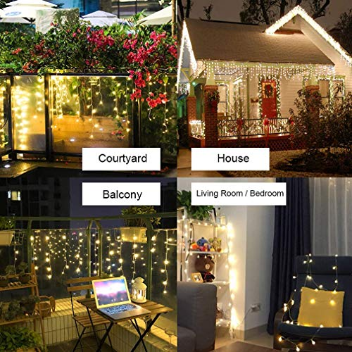 LED Christmas Curtain Lights - 144 LEDs