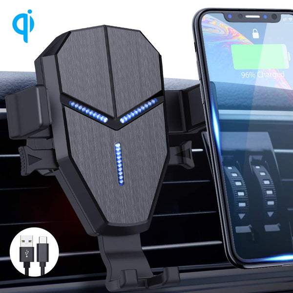 Auto Clamping Wireless Fast Charging Air Vent Cell Phone Holder