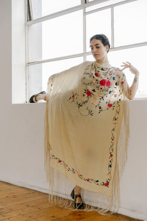 1920s silk piano shawl