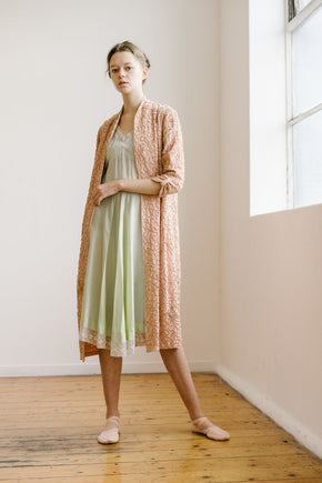 1930s blush crepe coat