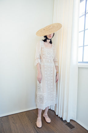 Edwardian net gown