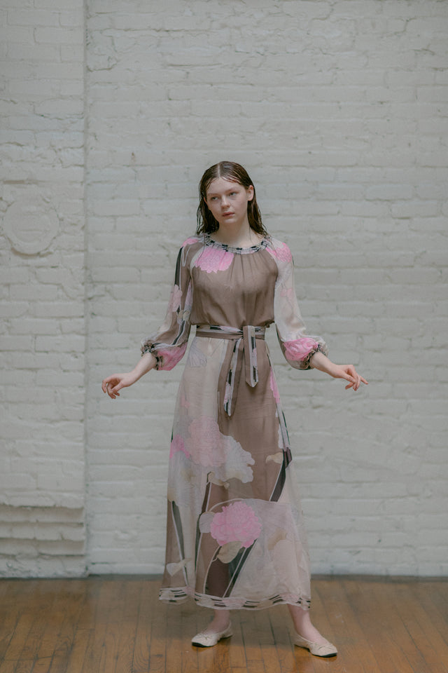 1970s Leonard Paris silk dress