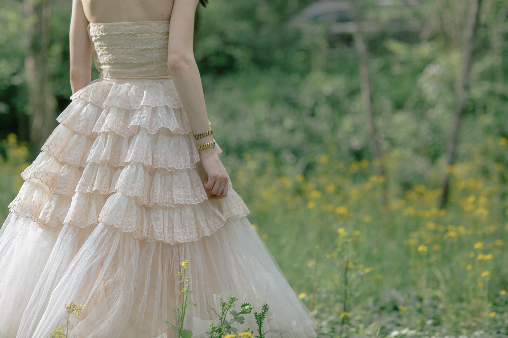 1950s tulle sweetheart dress