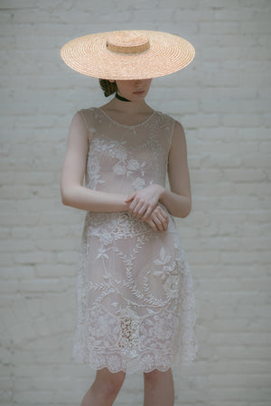 1920s Filet lace tea gown