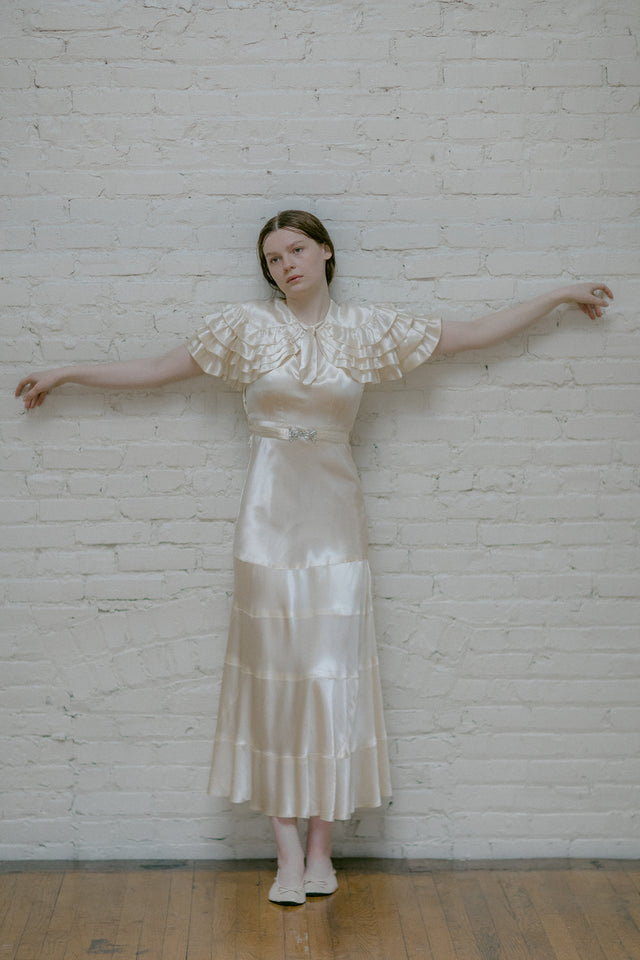 1930s silk wedding ensemble