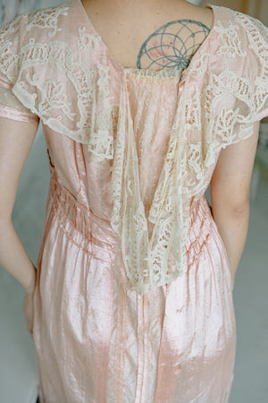 Edwardian silk & lace gown