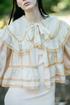 Antique Edwardian silk jacket