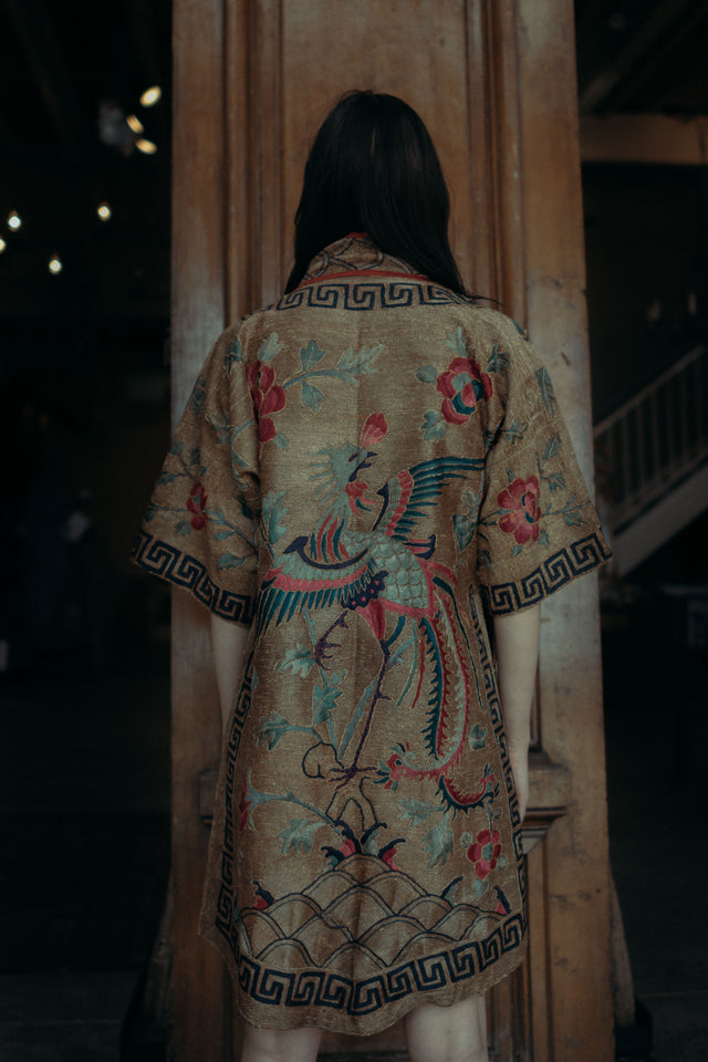 19th century Chinese embroidered robe