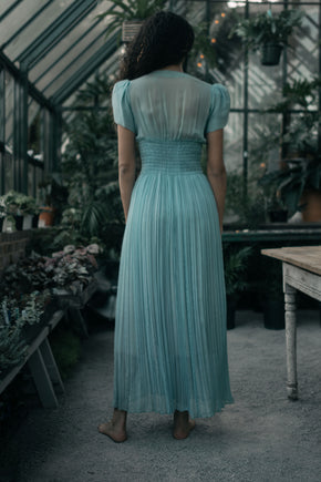 1930s silk pleated gown