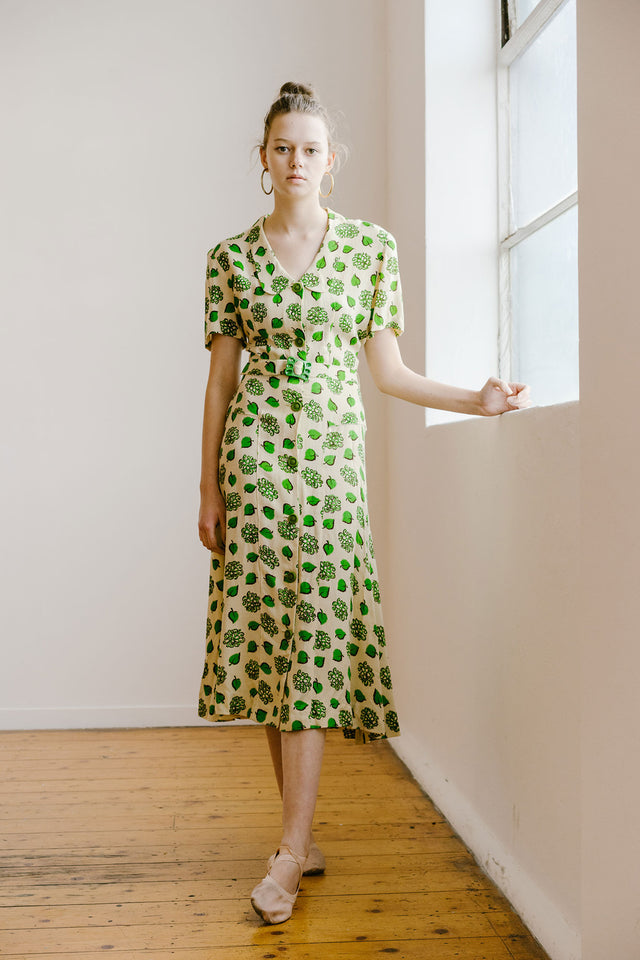 1940s Deadstock day dress
