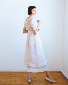Edwardian organdy dot dress
