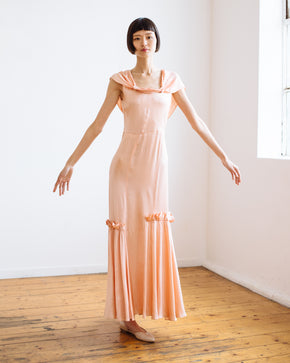 1930s bias silk gown