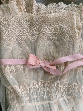 Antique embroidered net dress