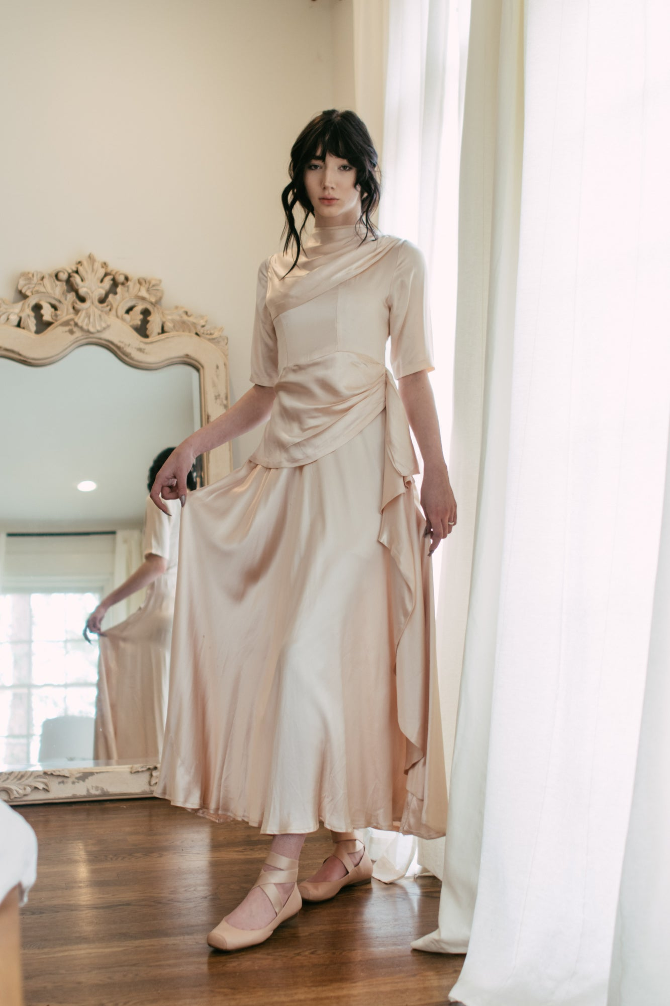 1930s liquid satin gown