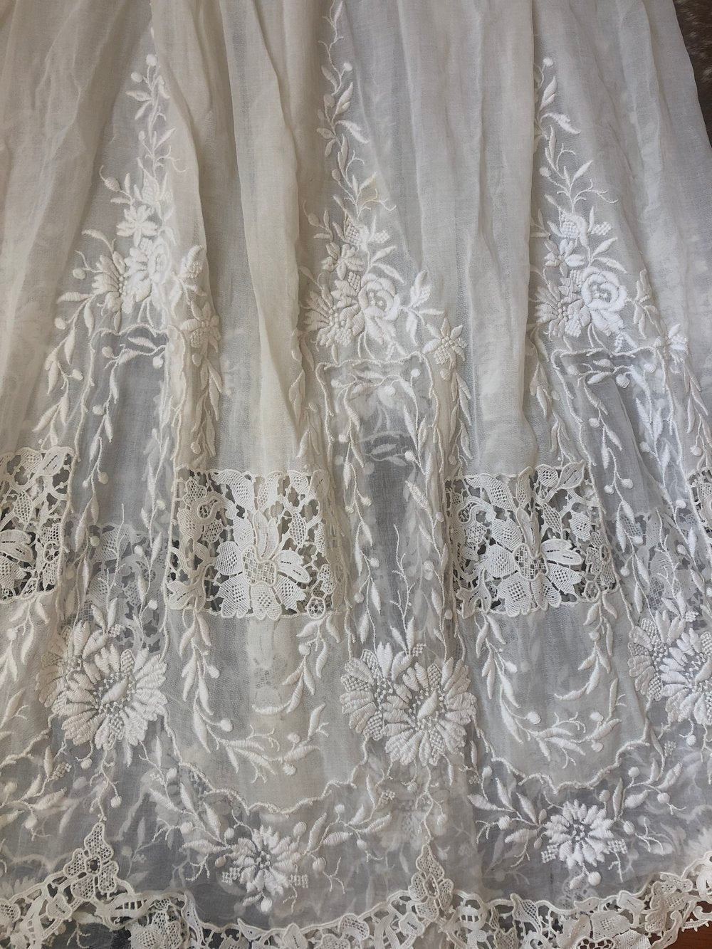 1900s silk wedding skirt