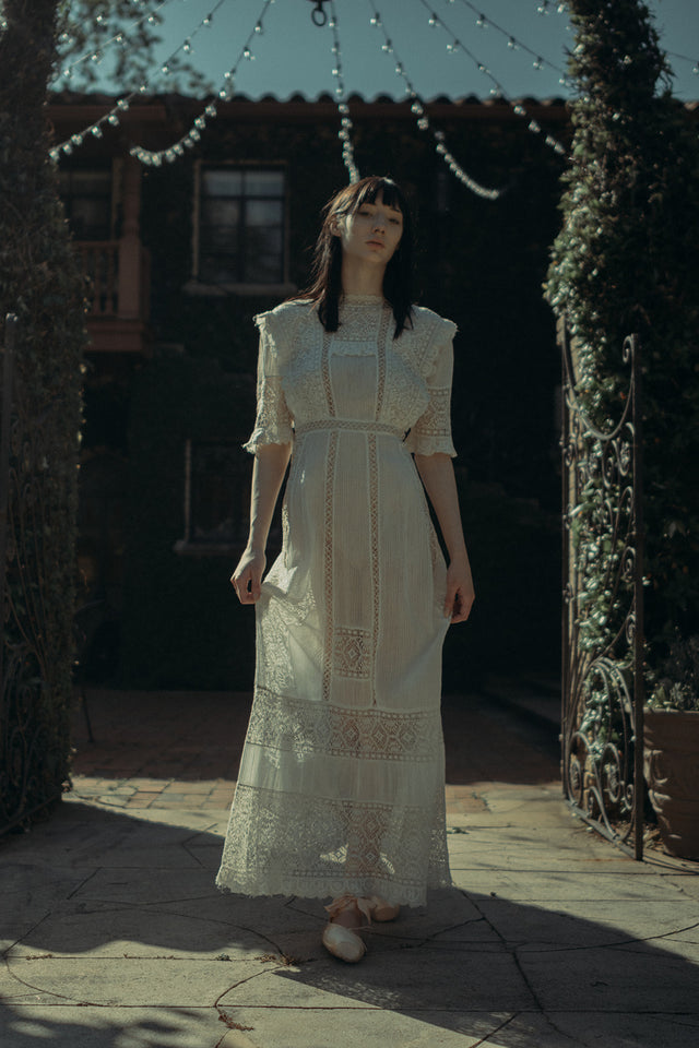 Edwardian crochet lawn dress