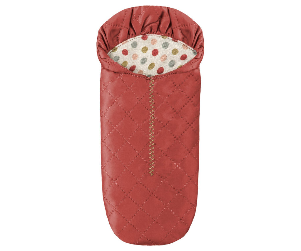 Maileg Sleeping Red Bag - Mouse Size